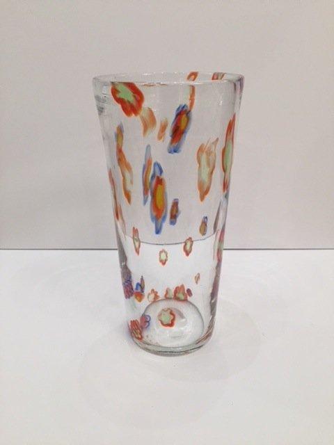 Mid Century Glass vase handblown - 2