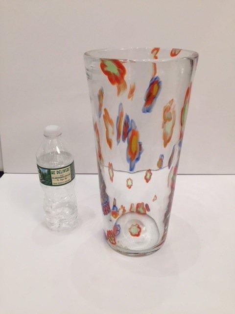 Mid Century Glass vase handblown - 3