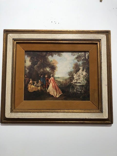 French framed 17th Century Landscape