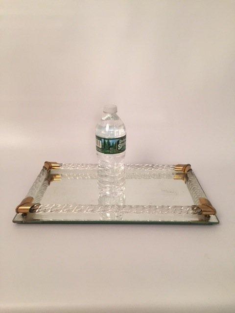 Art Deco glass mirror Tray - 2