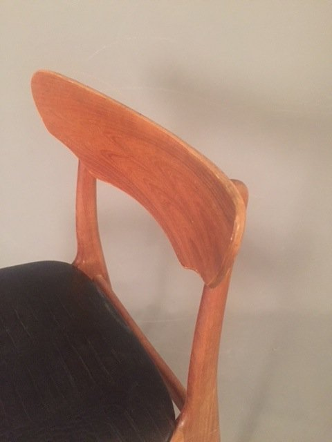 Mid Century Herman miller leather chair - 3