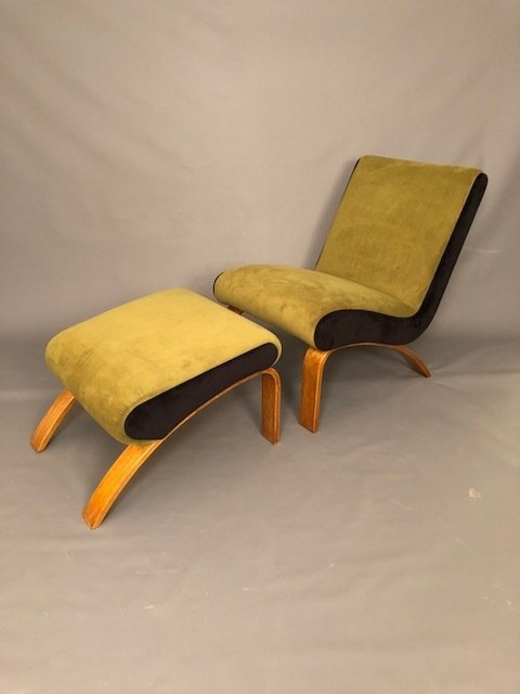 Mid-Century RESTORED Ottoman Lounge Chair
