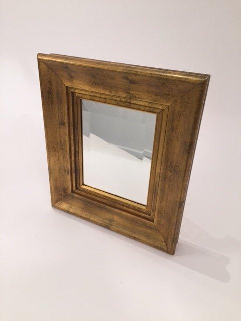 Mid Century Vintage Gold Framed beveled Mirror