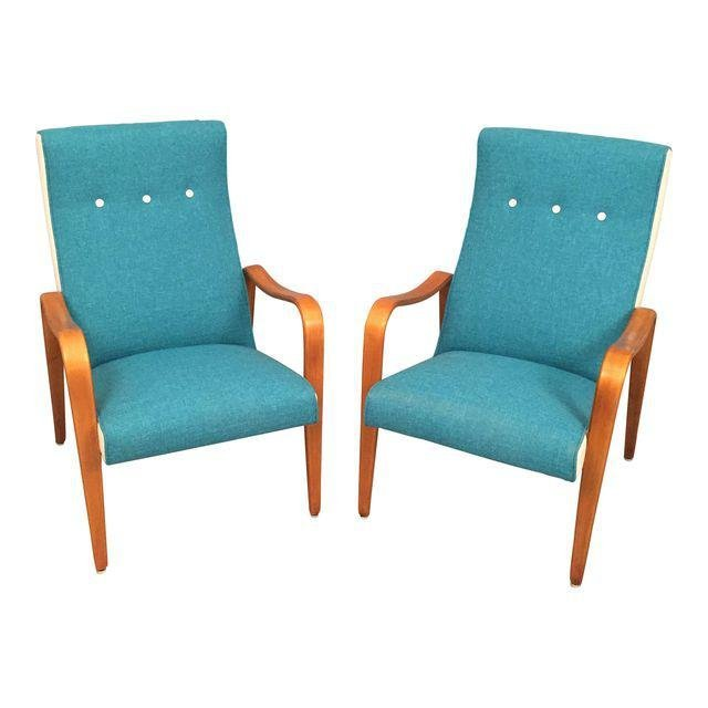 Mid Century RESTORED Thonet Bentwood Lounge Chairs