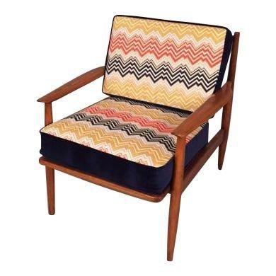 Mid-Century Danish RESTORED Arm chair new Upholstery