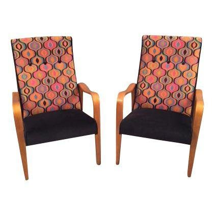 Mid Centuy Modern Pair Thonet Lounge chairs