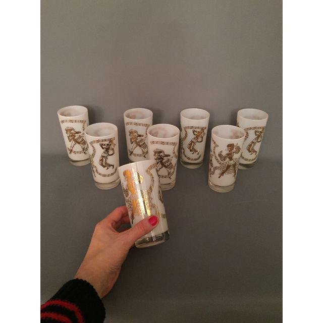 Mid-Century Carnival Pint Drinking Glasses - Set of 8 - 2