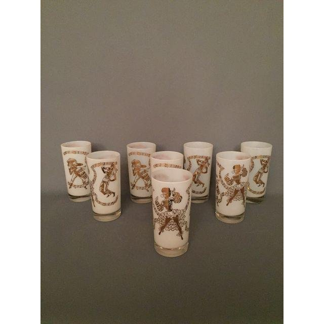 Mid-Century Carnival Pint Drinking Glasses - Set of 8 - 3
