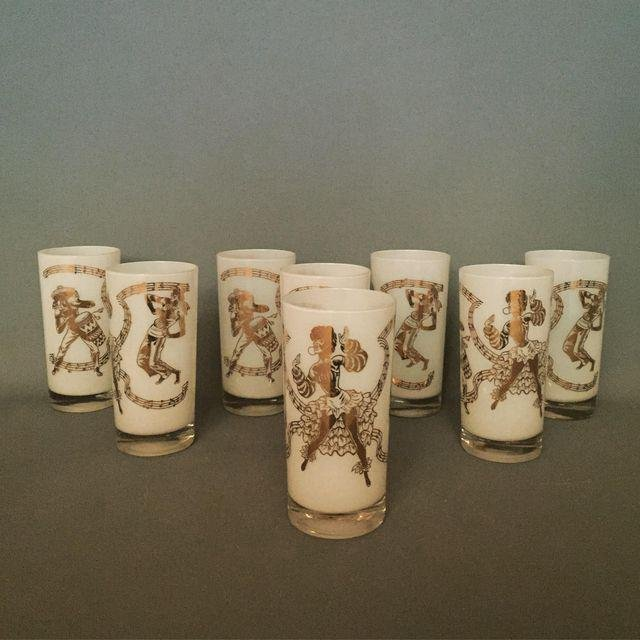 Mid-Century Carnival Pint Drinking Glasses - Set of 8 - 5