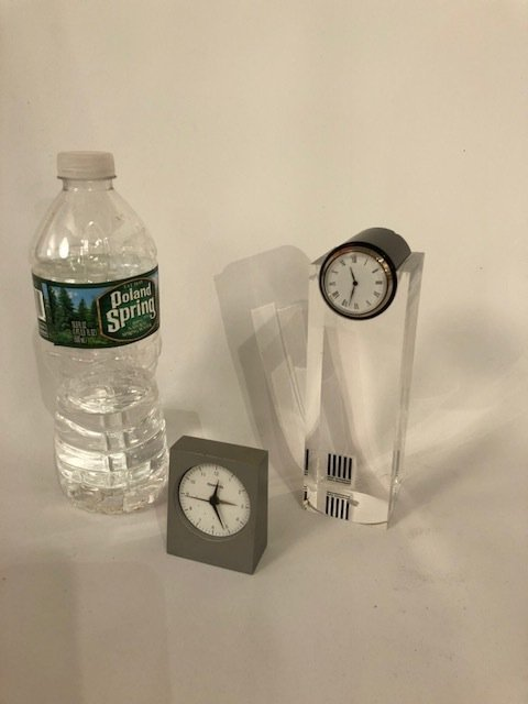 Italian two table clocks