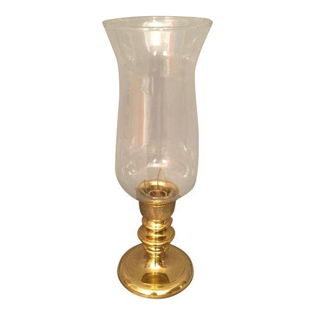 New Brass & Glass Candle Holder