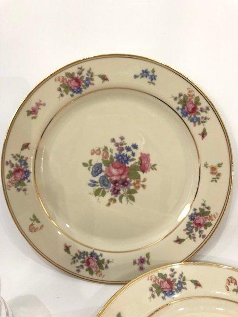 Porcelain set of 3 Dinner plates from BAVARIA