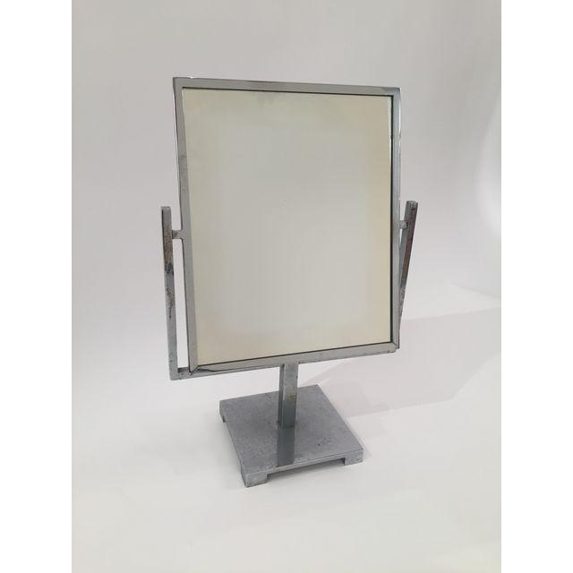 Art Deco Double Sided Chrome Vanity Mirror - 6