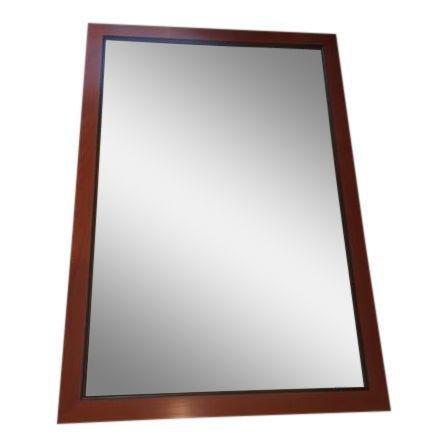 Custom Made Mahogany Framed Beveled Wall Mirror