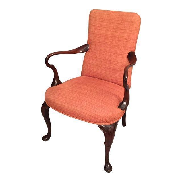 Mid-Century Queen Ann Style Armchair