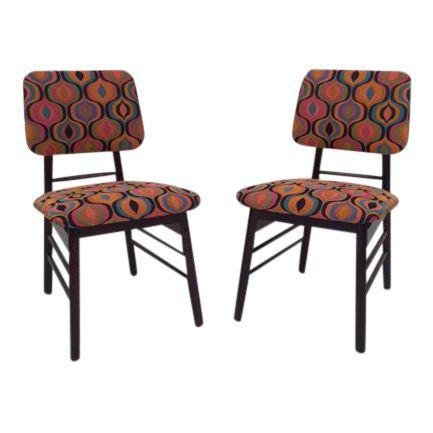 Mid-Century pair dinning chairs by Greta Grossman