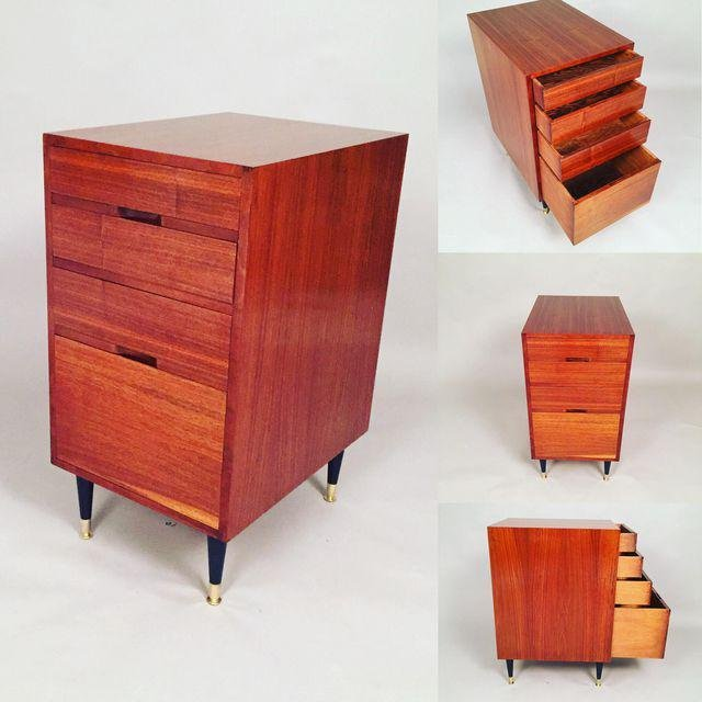 Mid-Century Walnut Filing Cabinet