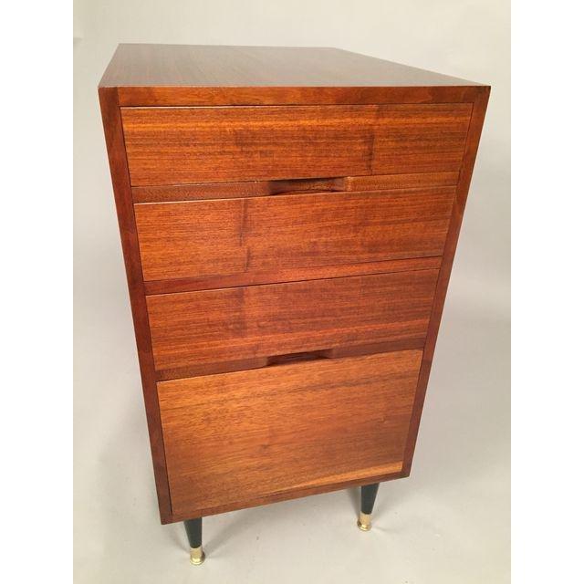 Mid-Century Walnut Filing Cabinet - 6