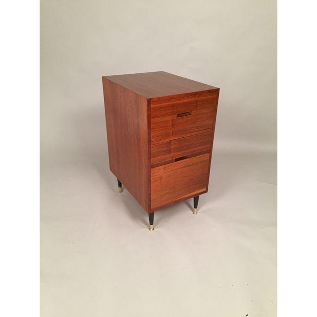 Mid-Century Walnut Filing Cabinet - 8