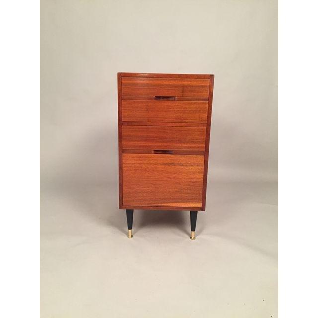 Mid-Century Walnut Filing Cabinet - 9