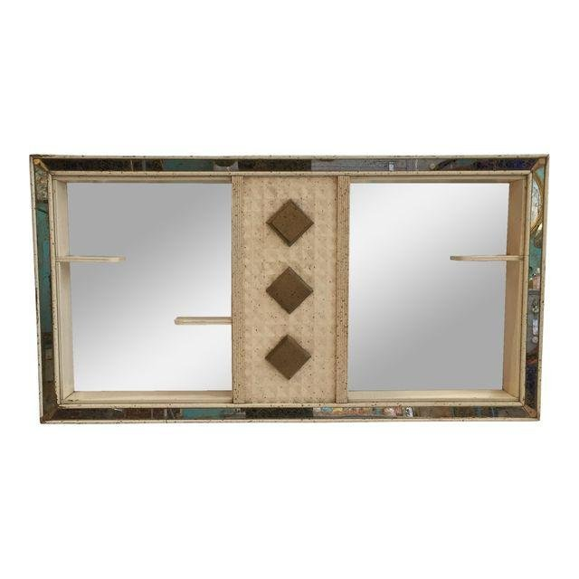 Mid-Century Shadow Box With Shelves & Mirror