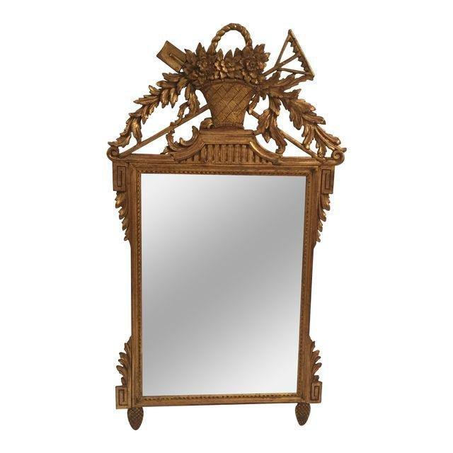 Neoclassical Gold Leaf Mirror