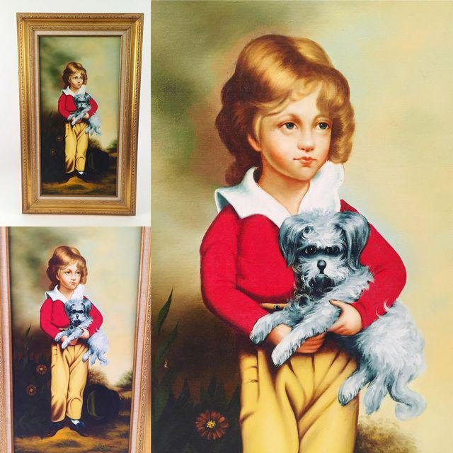 """The French Boy With a Dog"" Print"