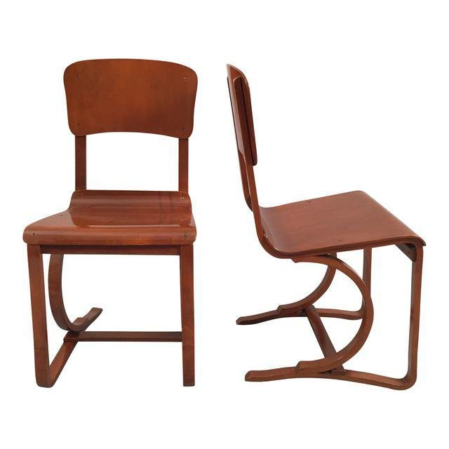Mid-Century Danish Bent Plywood Chairs - A Pair
