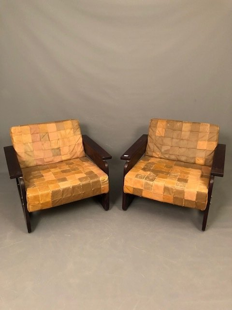 Mid-Century Pair of Lafer S.A Lounge chairs