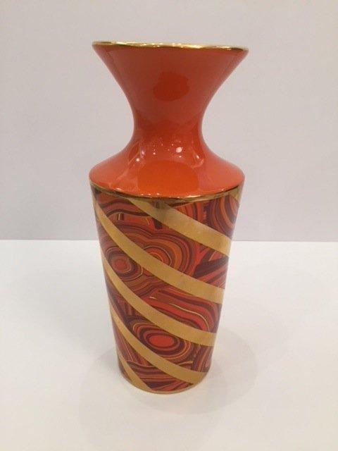 Pre owned Jonathan Adlen orange vase