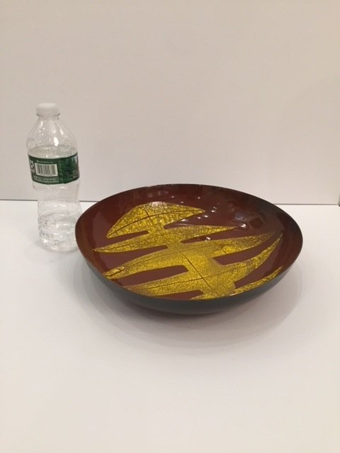 Mid century enameled Bowl