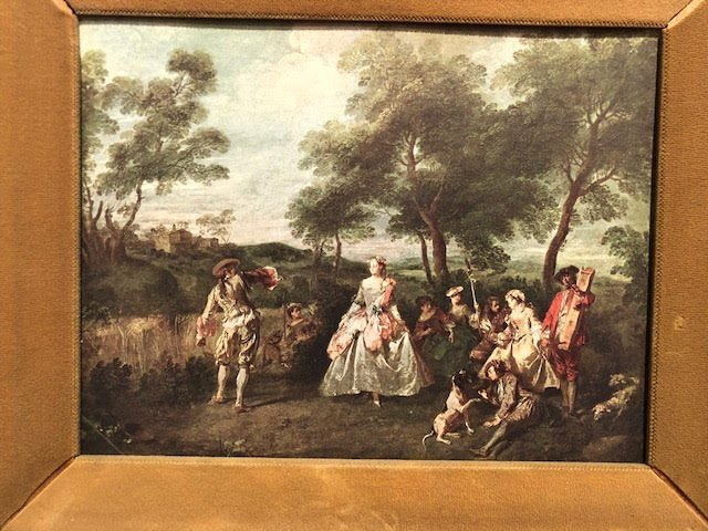 French 17th Century Landscape print