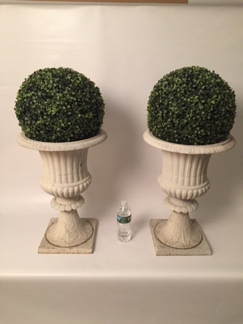 Cast iron Antique Pair of Urns planters