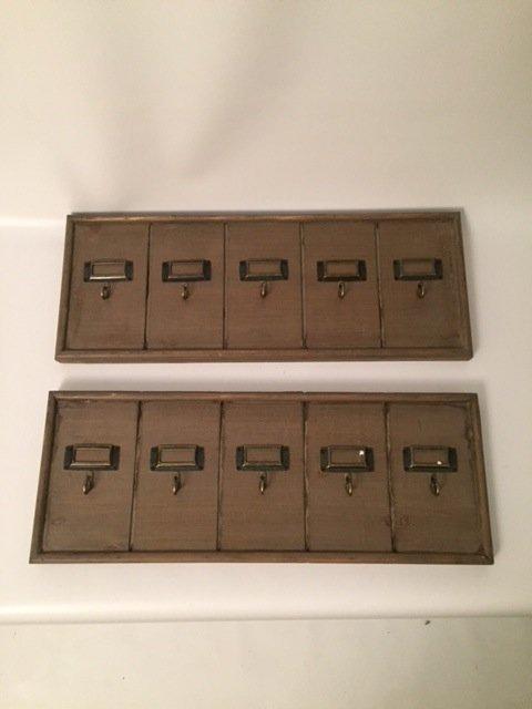 Modern wall key hanging pair