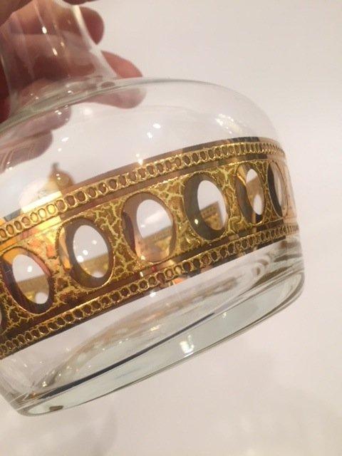 Mid Century Culver LTD Vase with Art glass flower - 3