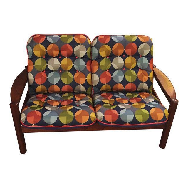 Mid-Century Restored Loveseat by Domino Mobler