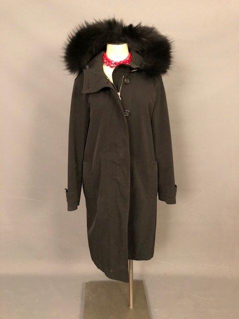 vintage PRADA Black coat with a hood