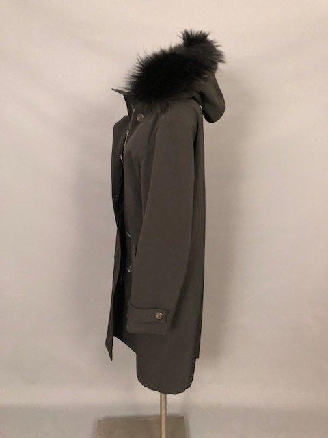 vintage PRADA Black coat with a hood - 2