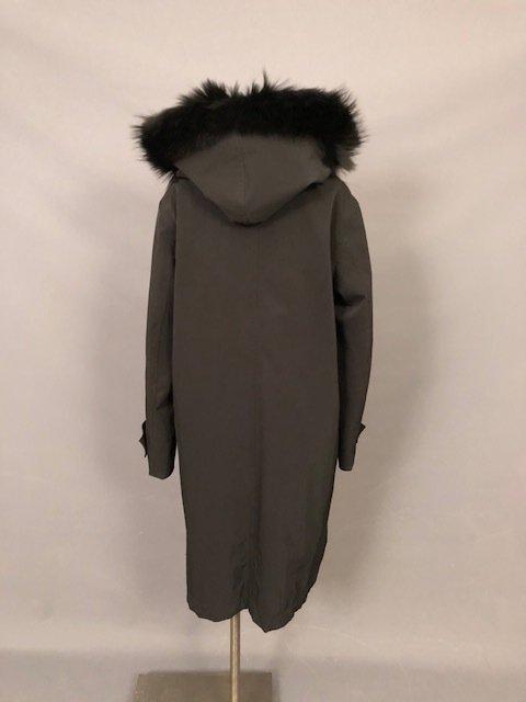 vintage PRADA Black coat with a hood - 3