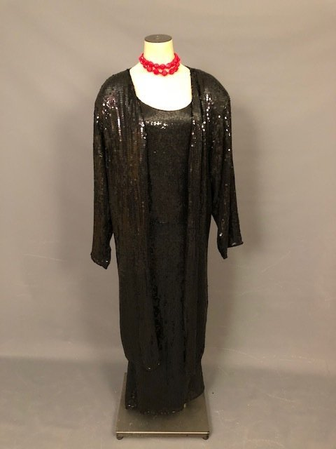 Vintage Black mash gown