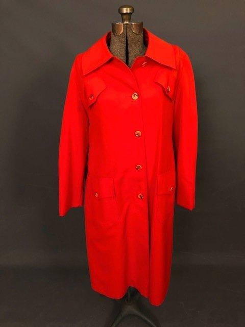 Vintage Orange Long Coat