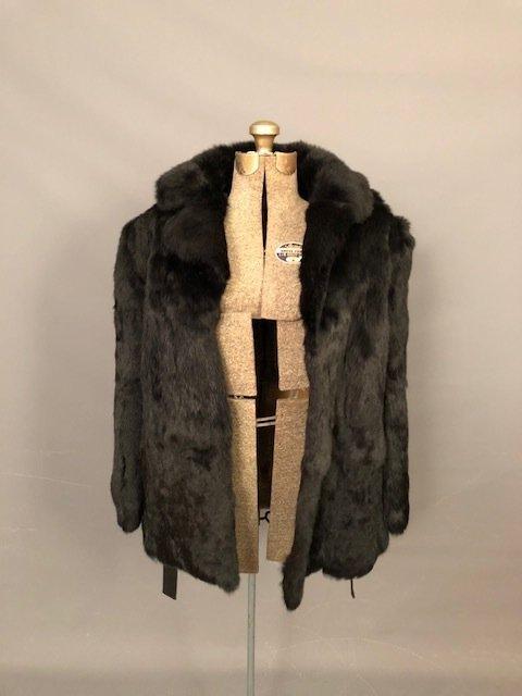 Vintage half fur coat