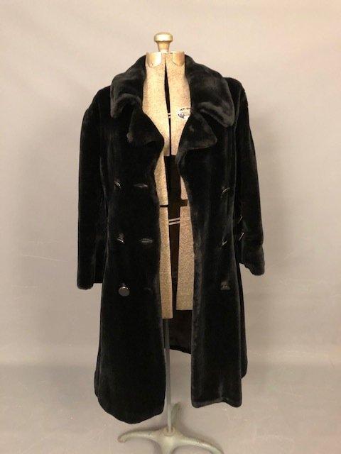 Vintage Black velvet coat