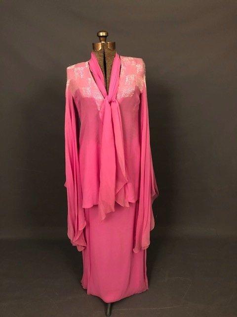 Vintage Silk pink Elegant dress