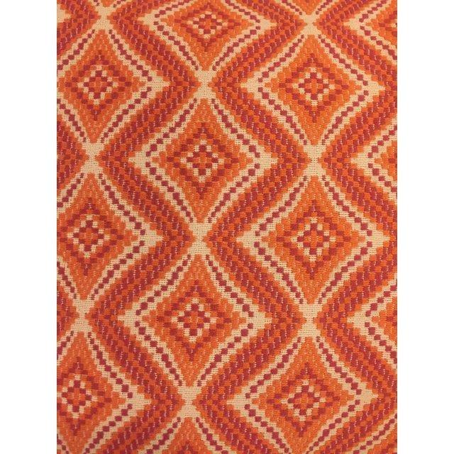 Handmade Geometric Orange Pillows - A Pair - 3