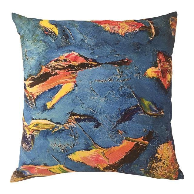 "Bruce Mishell ""The Birds""Print Pillow"