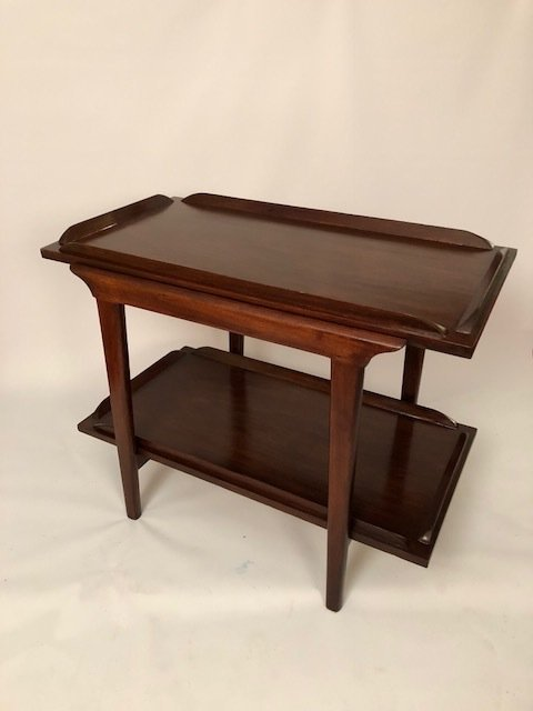Mid-Century Walnut RESTORED End table/Coffee table
