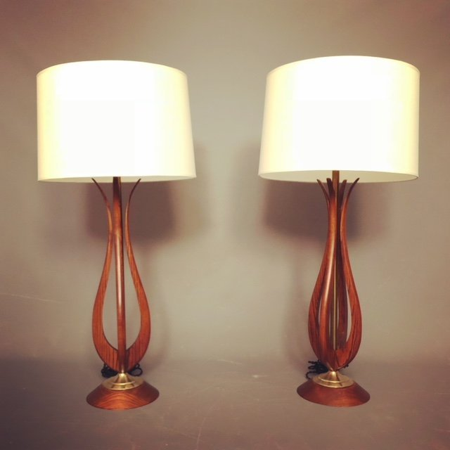 Mid-Century Adrian Pearsall RESTORE Lamps - A Pair
