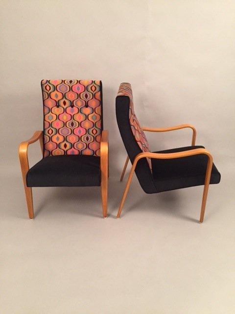 Thonet Pair Mid Century Lounge chairs