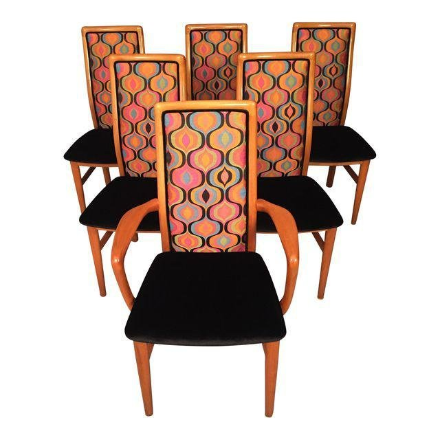 Mid-Century Modern Danish Schou Anderson Chairs, Set of